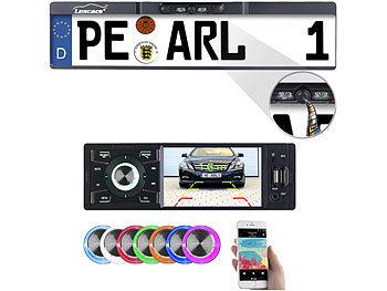 MP3-Autoradio mit TFT-Farbdisplay und Funk-Rückfahr-Kamera / Autoradio