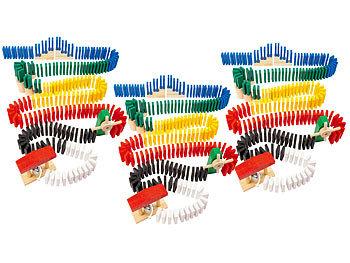 Domino-Set mit 1.440 farbigen Holzsteinen und 33 Streckenbau-Elementen / Domino