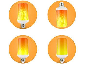 E27 LED Fackel Feuer Lampe Flammen Effekt Glühbirne Flacker Licht Halloween V6O2
