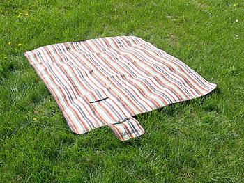 Picknick Decke kompakt Grillen Matte Garten Camping Outdoor Stranddecke 150x200