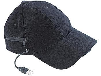 LED-Baseball-Cap mit 2 wiederaufladbaren Mini-Akkus / Stirnlampe