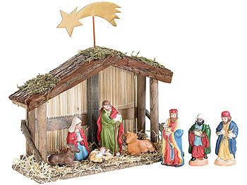 pearl weihnachtskrippe weihnachts krippe 10 teilig mit handbemalten porzellan figuren. Black Bedroom Furniture Sets. Home Design Ideas