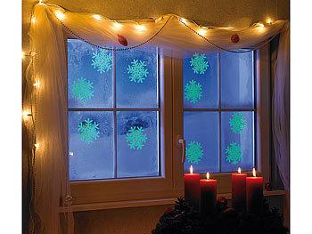 infactory fensterbilder schneeflocken fensterdeko glow. Black Bedroom Furniture Sets. Home Design Ideas