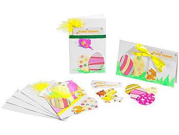 Osterkarten-Bastelset für 5 Karten mit Umschlag / Bastelset