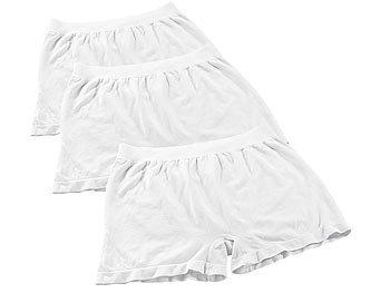 PEARL men Boxershorts aus Bambus-Viskose, 3 Stück in weiß, Gr. L PEARL men Boxershorts
