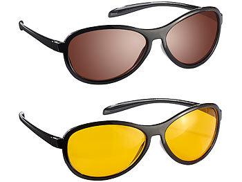 """HD Kontrast-Brillen-Set """"Night Vision"""" & """"Day Vision"""", polarisiert / Nachtsichtbrille"""