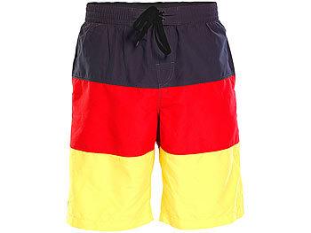 Badeshorts im schwarz-rot-goldenen Deutschland-Design, Gr. S / Badeshorts