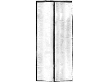 pearl selbstschlie endes fliegennetz f r t ren 90 x 210 cm schwarz. Black Bedroom Furniture Sets. Home Design Ideas