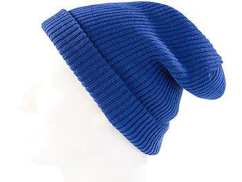Extrawarme Strickmütze, royalblau / Mütze