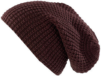 XXL-Strick-Mütze Long Beanie, dunkelbraun / Mütze