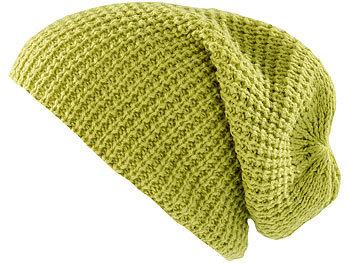 XXL-Strick-Mütze Long Beanie, hellgrün / Mütze