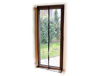 infactory fliegengitter selbstschlie endes premium fliegennetz f r t ren schwarz fliegent r. Black Bedroom Furniture Sets. Home Design Ideas