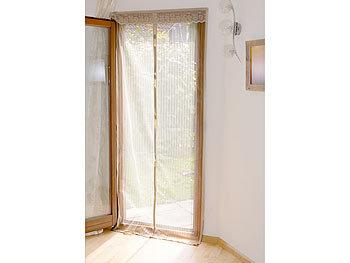 infactory fliegenschutz selbstschlie endes premium fliegennetz f r t ren beige insektenvorhang. Black Bedroom Furniture Sets. Home Design Ideas