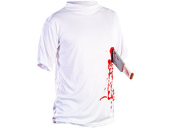 "Halloween-Party-Kostüme: infactory Halloween T-Shirt ""Machete in der Brust"", Gr. M"
