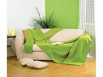 wilson gabor decke mit rmeln fleece kuscheldecke mit rmeln gr n kuscheldecke rmel. Black Bedroom Furniture Sets. Home Design Ideas