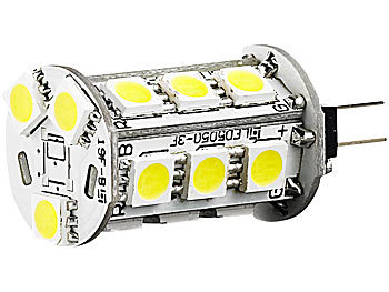 Luminea LED-Stiftsockellampe mit 18 SMD LEDs, G4 (12 V), weiß, 10er-Set Luminea LED-Stifte G4 (neutralweiß)