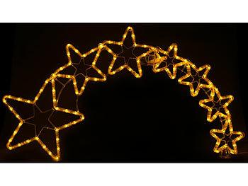 Lunartec weihnachtsdeko kometenschweif mit 120 leds ip44 - Led fensterdeko weihnachten ...