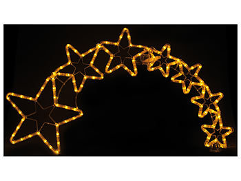 Weihnachtsdeko Straßenbeleuchtung.Lunartec Stern Mit Schweif Weihnachtsdeko Kometenschweif Mit 120