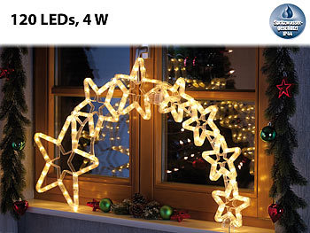lunartec weihnachtsdeko kometenschweif mit 120 leds ip44. Black Bedroom Furniture Sets. Home Design Ideas