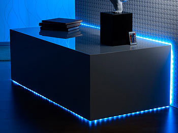 lunartec multicolor led streifen lc 500a w 5 m ip68 m fernbedienung. Black Bedroom Furniture Sets. Home Design Ideas