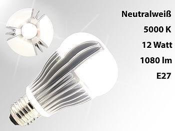 luminea dimmbare premium led lampe e27 12w 5000 k 1080 lm 2er set. Black Bedroom Furniture Sets. Home Design Ideas