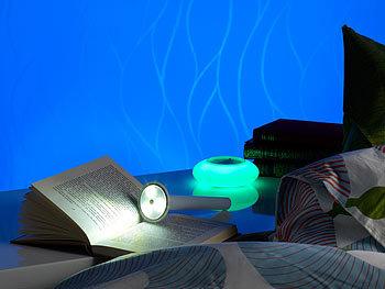 lunartec nachttischleuchte 3in1 nachttisch lampe mit farbwechsel taschenlampe lampen. Black Bedroom Furniture Sets. Home Design Ideas