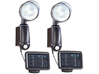 lunartec leuchte mit solarpanel solarstrahler mit ultraheller 1 watt led und bewegungssensor. Black Bedroom Furniture Sets. Home Design Ideas