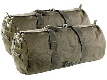2er-Set Canvas-Sport- und Reisetaschen mit Tragegriff, je 70 Liter / Reisetasche