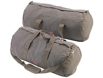 2er-Set XL-Canvas-Reisetaschen mit gepolstertem Schultergurt, 70 Liter / Reisetasche