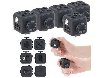 Stress newgen medicals Finger-Spielzeug Antistress-Cubes 5er-Set Anti-Stress-W/ürfel mit 6 Funktionen gegen Nervosit/ät