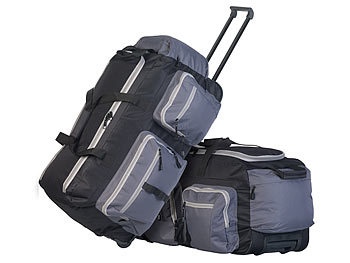 2er-Set faltbare XL-Reisetaschen mit Trolley-Funktion & Teleskop-Griff / Reisetasche