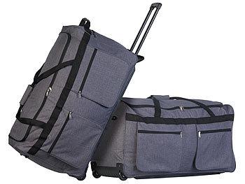 2er-Set faltbare XXL-Reisetaschen mit Trolley-Funktion &Teleskop-Griff / Reisetasche
