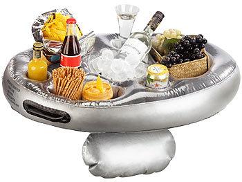 Schwimmender 2in1-Getränke- und Snackhalter, aufblasbar, 70 x 50 cm / Poolbar