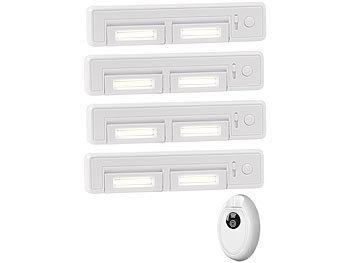 Unterbauleuchte 8 LEDs Lichtleiste 180° Drehbar Schrankleuchte Küchen Dimmbar