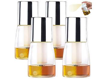 4er-Set dekorative Essig- & Öl-Sprühflaschen, 2-Stufen-Sprüh-Funtkion / Sprühflasche