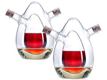 2-er Set  2in1- Essig- und Öl-Spender aus Glas / Essig Öl Spender