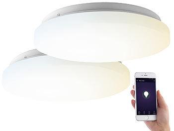 2er-Set WLAN-LED-Deckenleuchten für Amazon Alexa&Google Assistant, 18W / Deckenleuchte
