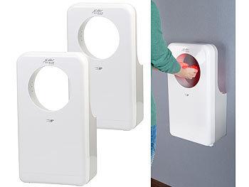 2er-Set vollautomatischer Profi-Händetrockner mit LED-Beleuchtung / Händetrockner