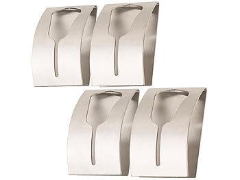 4er-Set Handtuchhalter aus rostfreiem Edelstahl, selbstklebend / Handtuchhalter