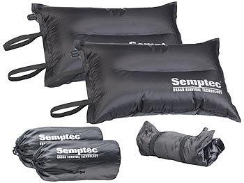 2er-Set selbstaufblasende Camping-Kopf- und Sitz-Kissen / Sitzkissen