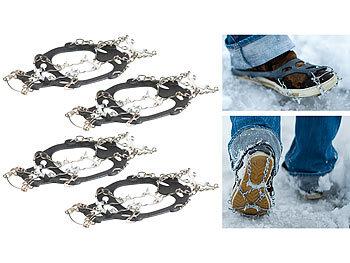 PEARL Schneeschuh Spikes: 2 Paar Schuhketten für alle Schuhe