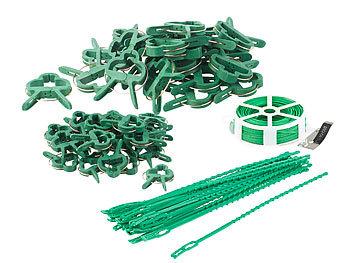 2 Pflanzenbefestigungs-Sets mit Pflanzenclips, XXL-Pack, je 71-teilig / Pflanzenclips