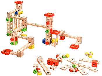 Kugelbahn-Bausatz aus Holz, 50-teilig / Kugelbahn