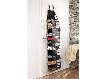 infactory h ngendes regal mit 30 f chern f r kleidung w sche und schuhe. Black Bedroom Furniture Sets. Home Design Ideas