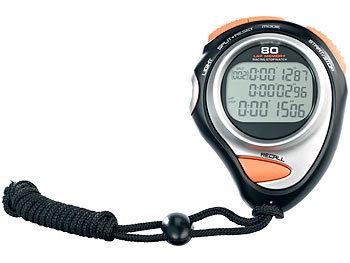 Fitness-Stoppuhr Premium, 3-Zeilen-Display, 30 Speicher / Stoppuhr