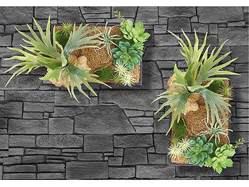 Carlo milano kunstpflanzen vertikaler wandgarten lisa mit deko pflanzen 20 x 30 cm - Vertikaler wandgarten ...