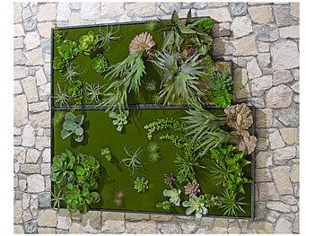 carlo milano vertikal garten vertikaler wandgarten lisa mit deko pflanzen 3er set wandbilder. Black Bedroom Furniture Sets. Home Design Ideas