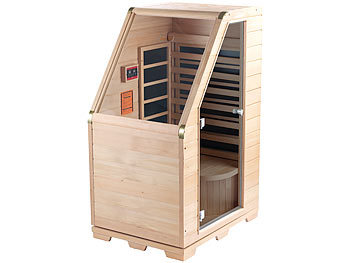 newgen medicals infrarot sitz sauna hemlock holz 760 w 0 62 m versandr ckl ufer. Black Bedroom Furniture Sets. Home Design Ideas