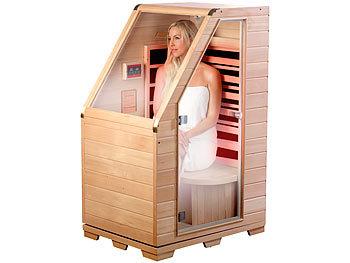 newgen medicals sitzsauna f r zuhause kompakte infrarot sitzsauna aus hemlock holz 760 w 0 62. Black Bedroom Furniture Sets. Home Design Ideas