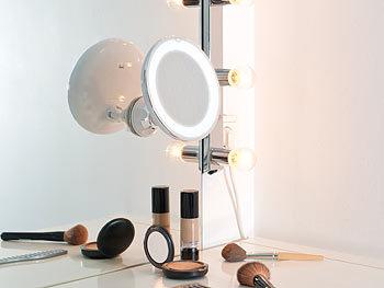 sichler beauty vergr erungsspiegel rasier kosmetikspiegel 17 5 cm 5 fach 25 leds 360. Black Bedroom Furniture Sets. Home Design Ideas